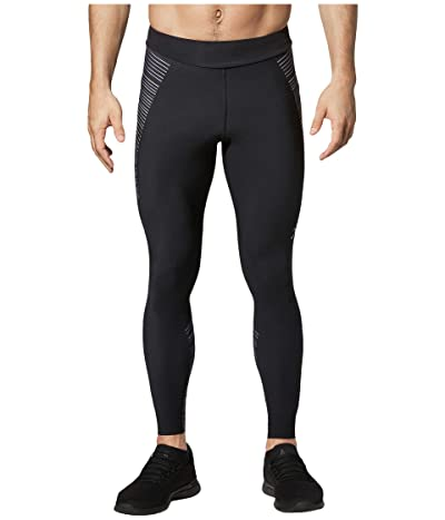 CW-X Speed Model Compression Tights (Black/Grey/Blue) Men
