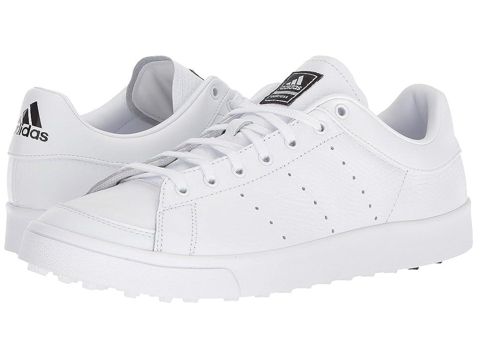 Image of adidas Golf adiCross Classic (Footwear White/Footwear White/Core Black) Men's Golf Shoes