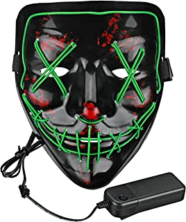 Lumiere Halloween Scary LED Purge Mask for Festival, Party