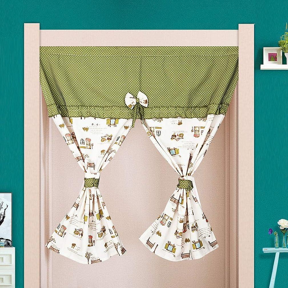 ドア倍増れるホームシンプルプリント四季のカーテン、キッチン寝室の装飾的なカーテン、小さな新鮮なハーフカーテン仕切りのカーテン,90*90cm