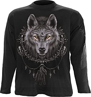 Mens - Wolf Dreams - Longsleeve T-Shirt Black
