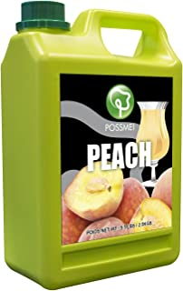 Possmei Flavored Syrup, Peach, 5.5 Pound