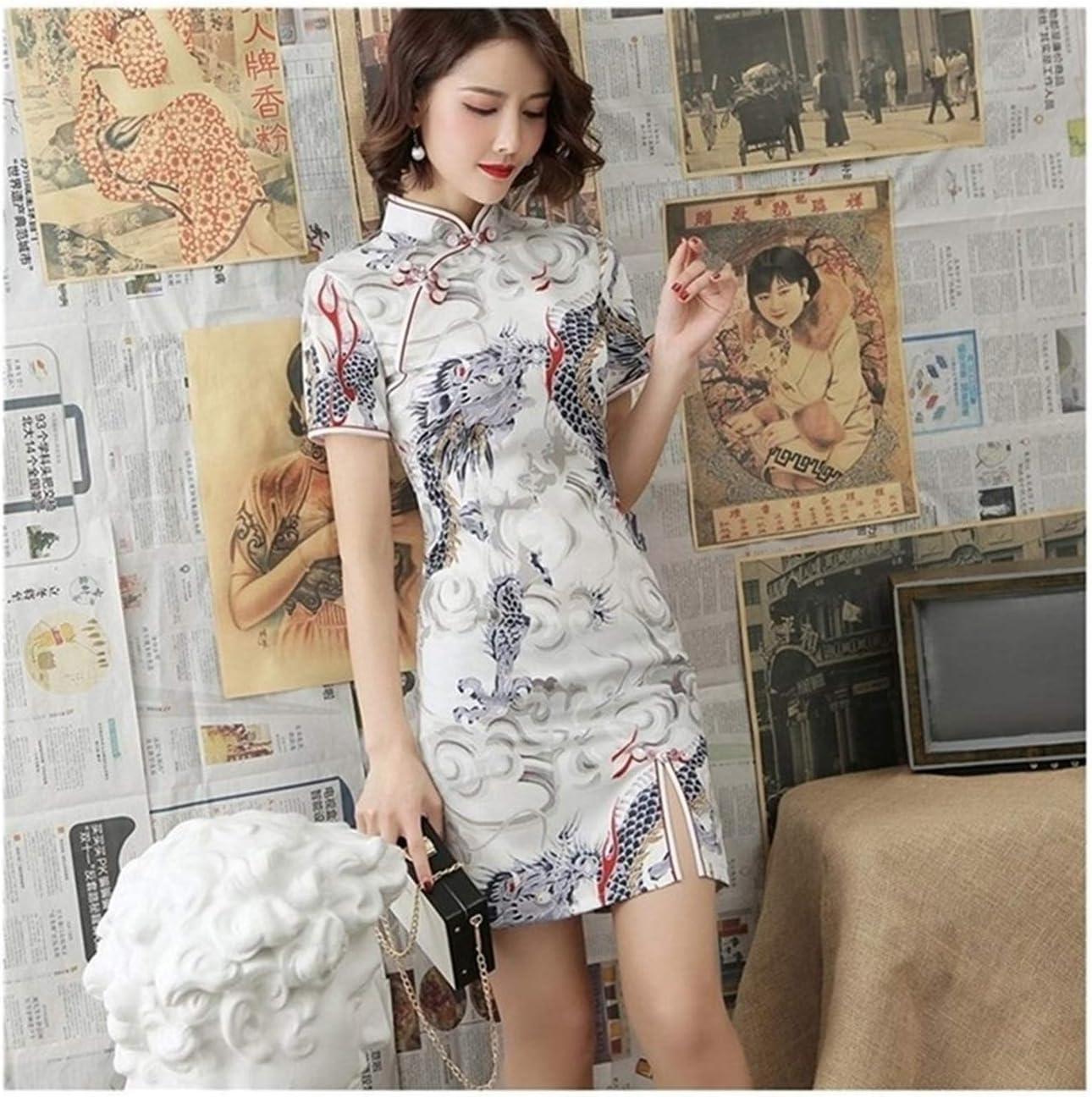 XIAOXINGXING Chinese Cheap super special price Dress for Women Qipao Fees free!! Elegant Crane Dragon