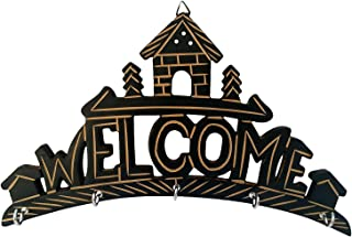 Craft Land Handicrafted Wooden Key Hanger Holder Wall Hanging Décor Welcome Home