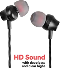 Stealkart Earphones Headphones, High Definition, in-Ear, Tangle Free, Noise Isolating, Heavy Deep Bass for iPhone 6, 7 7 Plus 8 8 Plus, Samsung M20, S8 Plus, S7 Edge, J5 Prime, J8, Redmi Note 7 Pro