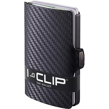 disponibles en 9 couleurs I-CLIP Soft Touch Portefeuille Compact ardoise