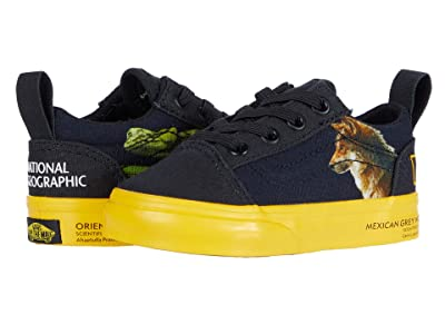 Vans Kids National Geographic Old Skool Elastic Lace (Infant/Toddler) ((National Geographic) Photo Ark) Kids Shoes