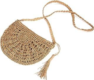 comprar comparacion JOSEKO Bolsa de Bandolera de Paja, Mujeres Tejido Bolsa de Hombro Summer Beach Purse para el Uso Diario de Viajes