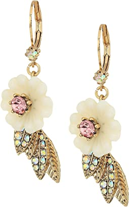 Betsey Johnson - Flower and Leaf Earrings