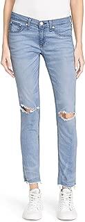 rag & bone Women's Ripped Knee Cropped Skinny Jeans Clean Birdie