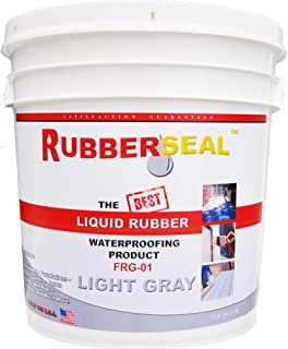 Rubberseal Liquid Rubber Waterproofing and Protective Coating - Roll On (1 Gallon, Light Gray)