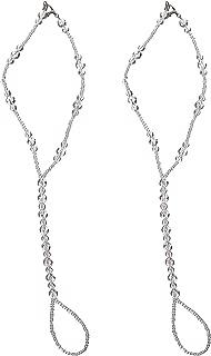 Darice VL1899S Crystal Aurora Borealis Bridal Foot Jewelry, Small, 5 to 6-Feet