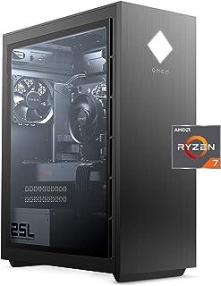 OMEN 25L Gaming Desktop PC, AMD Radeon RX 5700, AMD Ryzen 7 3700X, HyperX 16 GB DDR4 RAM, 1 TB...