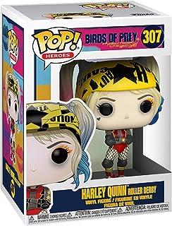Figura de vinilo con tarjeta coleccionable, diseño de Harley Quinn Roller Derby Pop, exclusivo de entretenimiento Earth y con 1 caja protectora de gráficos PET compatible.
