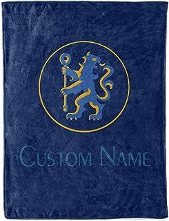 Shoebilly Custom Chelsea FC Fleece Throw Blanket Personalized Football Soccer Warm Lightweight Blankets Men Women Kids Apparel