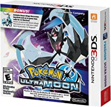 Limited Edition Pokemon Ultra Moon 3DS Game with Exclusive Dawn Wings Necrozma Keychain and Bonus In-game Code - Nintendo 3DS