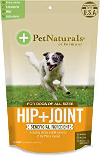 PET NATURALS - Hip + Joint for Dogs, Daily Joint Support Supplement, 60 Bite-Sized Chews