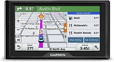 Garmin Drive 60LM GPS Navigator System with Lifetime Maps, Spoken Turn-By-Turn Directions, Direct Access, Driver Alerts, and Foursquare Data (Renewed)