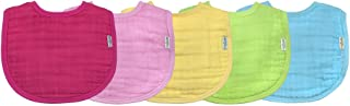 Green Sprouts Muslin Bibs Organic Cotton (0 to 12 Months, Pink, Pack of 5)