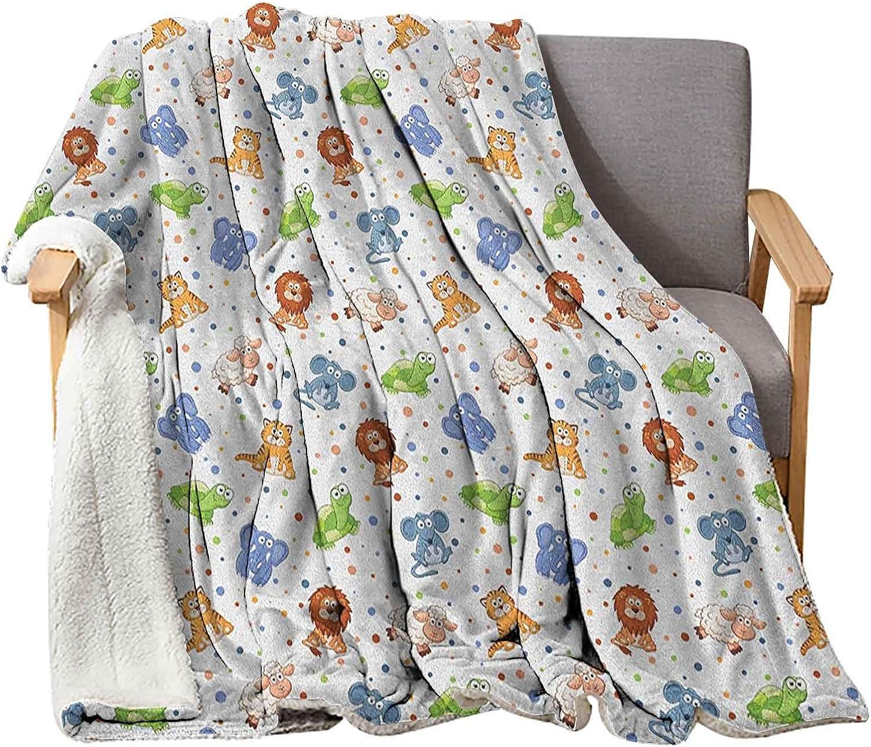 Interestlee Animal Wool Blanket 60