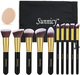 Sunnicy Makeup Brush Set Professional Foundation Blending Blush Eye Face Liquid Powder Cream & Mineral Cosmetics Brushes