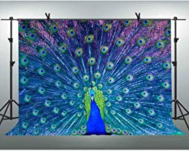 FLASIY Peacock Backdrop 10x7FT Photography Backdrops for Party Decoration Studio Photo Backgrounds Props XCAY463