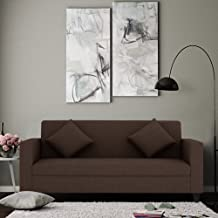 Furny Limo Three Seater Sofa (Brown)