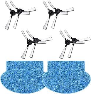 N / A Youriaa 8 x cepillos Laterales + 2 x Mopas para AMIBOT Prime/Pure/Pulse/Flex H2O