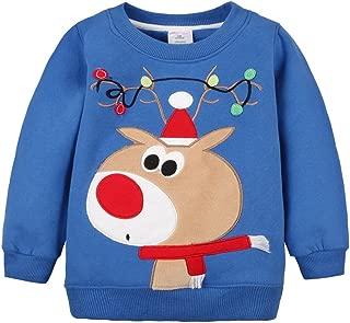 2018 Baby Toddler Girl Boy Christmas Sweater Cute Cotton Pullover Sweatshirt