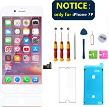 Swgrdin 3D Touch Screen Full Frame Assembly for iPhone 7 Plus Screen Replacement White 5.5