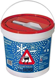 Streugut Winter I Streugranulat 10 kg Eimer  Schaufel I Streusalz Alternativen I Umweltschonend  Tierfreundlich I Wiederverwendbar zur Bodenverbesserung