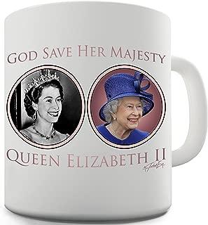 Twisted Envy God Save Her Majesty Queen Elizabeth II Ceramic Novelty Mug