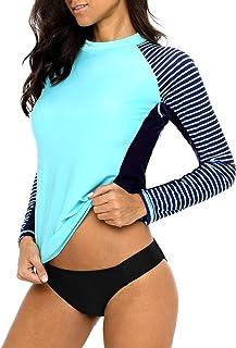 New Ladies Rashie Vest Top Surf Swim Wet Shirt XS S M L XL XXL womens UPF50