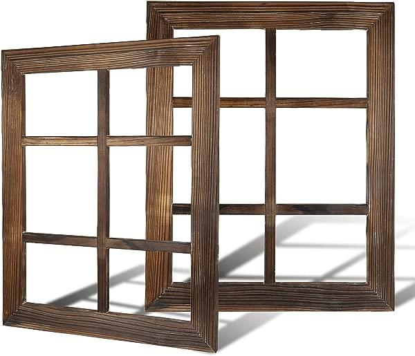 DOCMON Rustic Wall Decor Farmhouse Decor Window Barnwood Frames Home Decor For Home Or Living Room 2 18 1X22 1X1