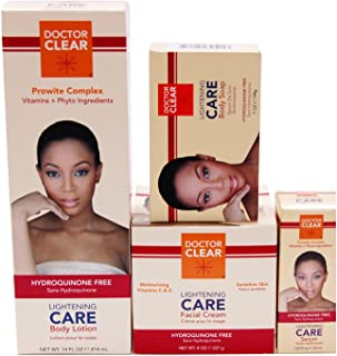 Miracle Glory Lightening Care-Body Lotion,Facial Cream, Serum,Soap- 4 Pack