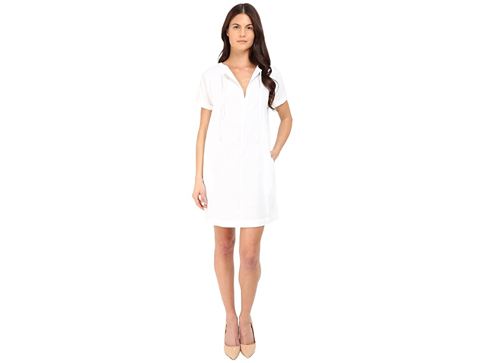 Theory Alisia Crunch Wash Dress (White) Women