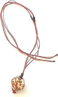 Ethnos Barcelona - Collana lunga regolabile con perle di vetro.