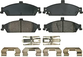 Wagner QuickStop ZD752A Ceramic Disc Pad Set Includes Pad Installation Hardware, Front