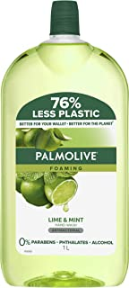 Palmolive Foaming Antibacterial Hand Wash Soap Lime and Mint Refill and Save Kills 99.9 percentage of Germs Dermatological...