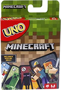 Mattel Games UNO Minecraft World Card Game, Multicolor, Basic Pack