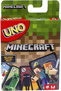 Mattel Games UNO Minecraft Card Game, Now UNO fun includes the world of Minecraft,..