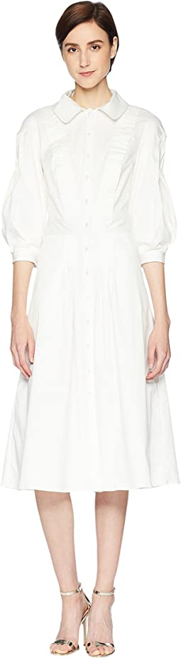 Cotton Poplin 3/4 Sleeve Dress