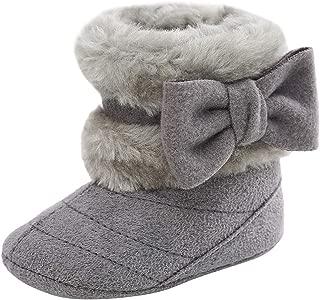 Butterme Nouveau-n/é Fleece Bootie Unisexe b/éb/é Premium Doux Semelle antid/érapante pour Nourrissons Prewalker Chaussures Enfant en Bas /âge