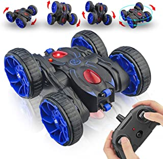 Remote Control Stunt Car, RC Car Toy 15km/h All Terrain Off Road 4WD Double Sided Running, 360° Rotation & Flips Remote Co...