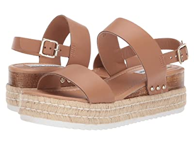 Steve Madden Catia Wedge Sandal (Natural Leather) Women