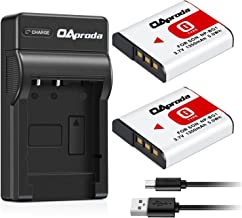 OAproda Replacement NP-BG1 Battery (2 Pack) and Ultra Slim Micro USB Battery Charger for Sony NP-FG1, CyberShot DSC-W30, W35, W50, W55, W70, W80, WX1, WX10, HX9V, H10, H20, H70, H50, H55, H90