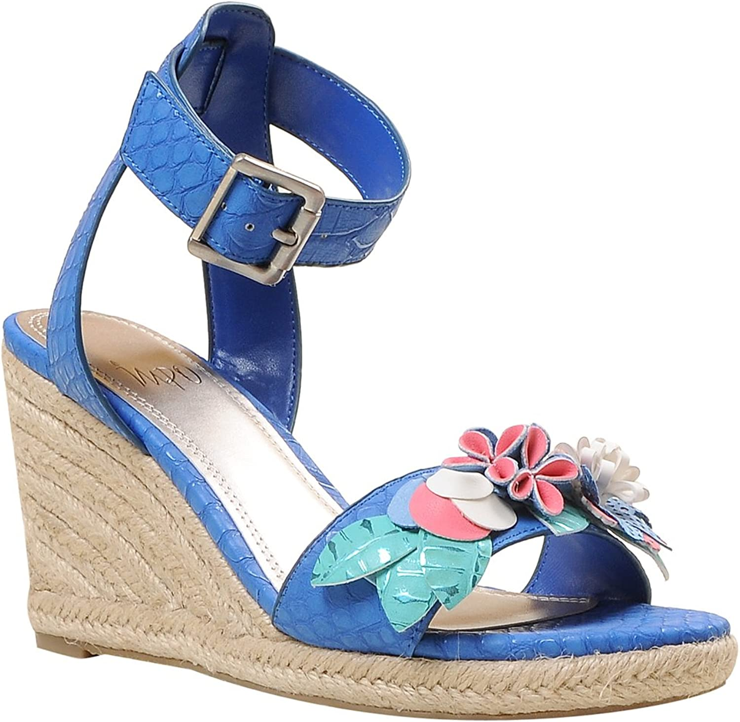 Impo TYLEEN Wedge Sandal, Cobalt bluee Multicolor