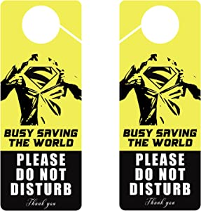 Do Not Disturb Door Hanger Sign, 2 Packs Printed On Both Sides, 9.2″X3.5″ Pvc Plastic, Please Do Not Disturb Using For Any Places Like For Home, Game Room, Hotel, Bathroom, Bedroom