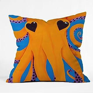 Deny Designs Mandy Hazell Wish I Was An Octopus Throw Pillow, 16 x 16