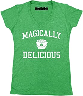 Promotion & Beyond Magically Delicious Irish ST Patricks Day Women's V-Neck